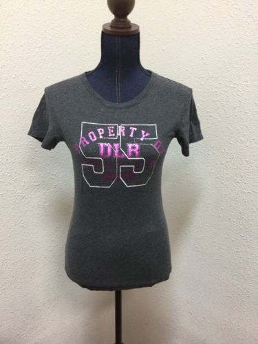 Disneyland Resort T-Shirt Womens Sz M Gray Property Of DLR 55