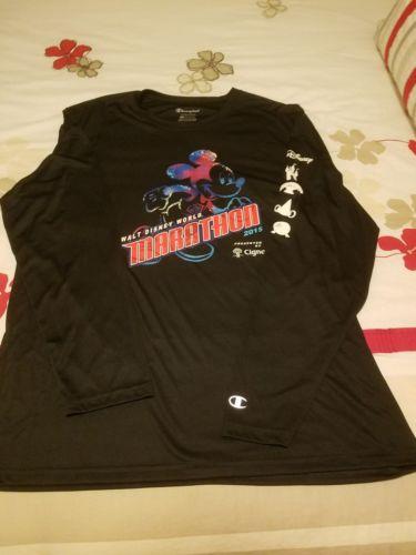 Run Disney WDW Marathon 2015 Race Tech Shirt Mens L