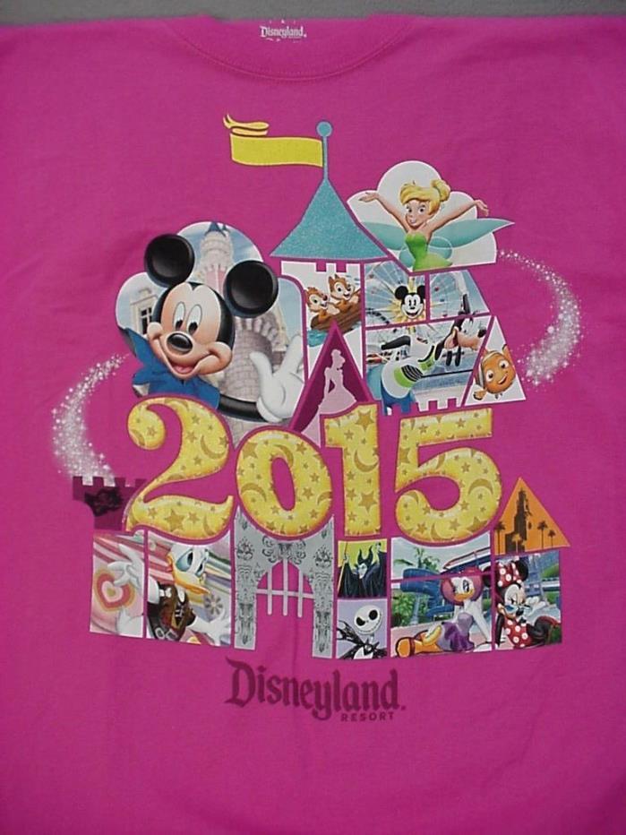 2015 Pink DISNEYLAND RESORT T-Shirt - Adult XXLarge XXL - NEW NWT