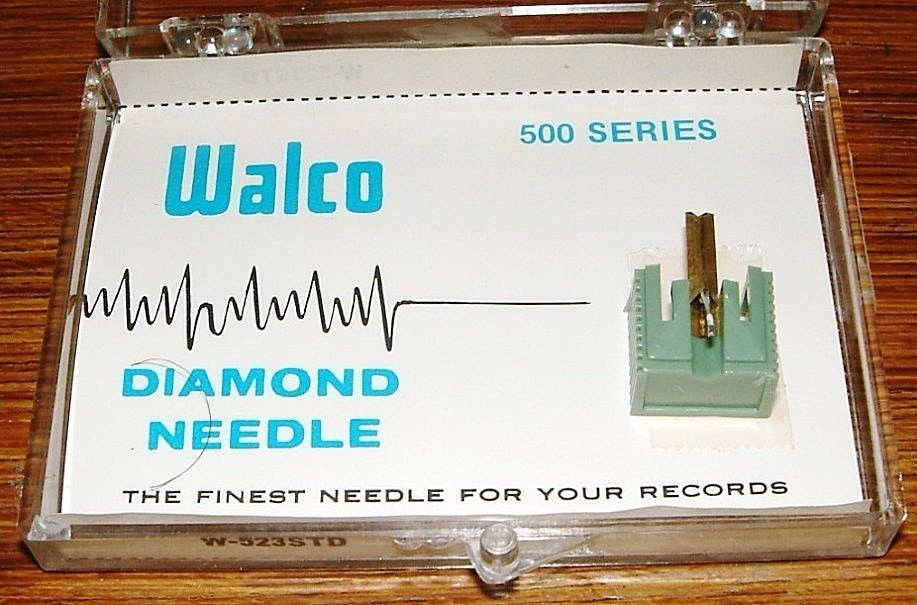 Phonograph NEEDLE W-523STD for JVC DT-32 -29, SHARP STY701, JVC MD-1013, 637-D7