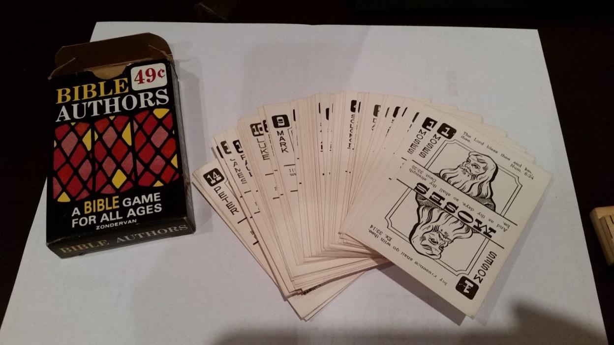Vintage Bible Authors Card Game Zondervan B. DeFrees Brien Complete Bible Game