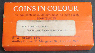 Vintage - Scottish Gold Coins In Colour - 30 Seaby Slides 35mm Rare