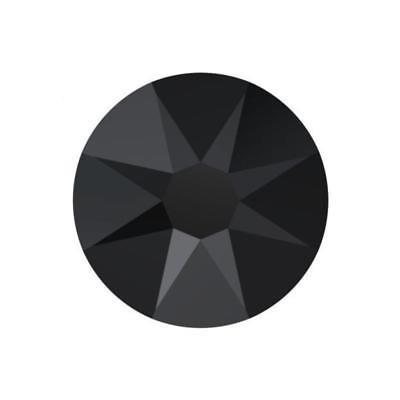 2058 Swarovski Crystal Flatback, Jet Black