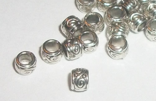 European Style Large Hole Bead, Paw Print Spacer 11.5x10.5mm, Silver and Gold