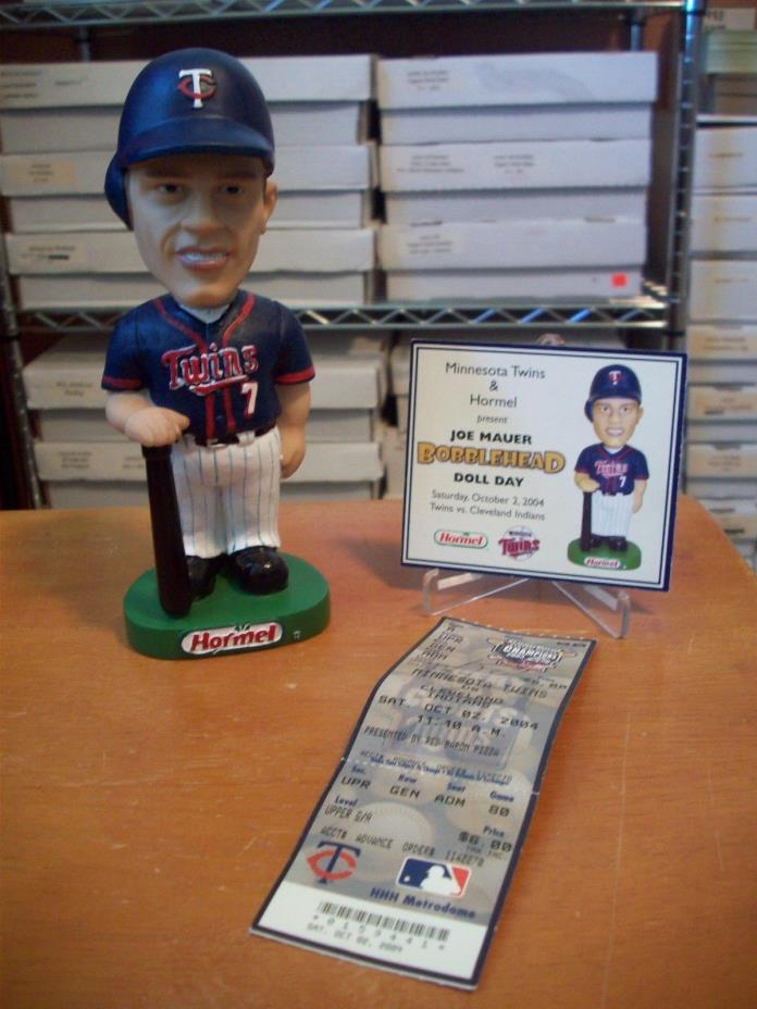 Joe Mauer Minnesota Twins 10/2/2004 Bobblehead Stadium Giveaway SGA w/Card L@@K