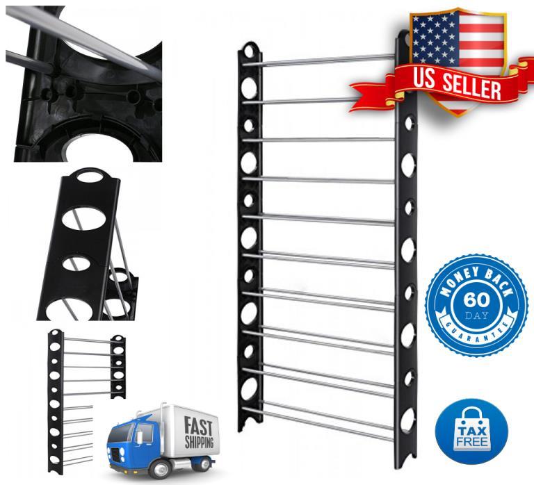 Exclusive 10 Tier Shoe Rack For 50 Pair Metal Shelf Closet Organizer For Home