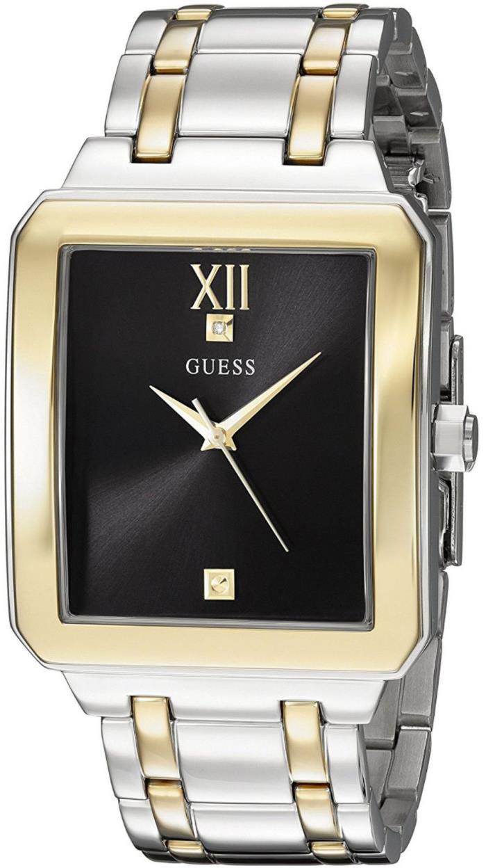 Guess Reloj Silver Gold Plata Oro Bracelet Pulsera Hombre Man Watch Diamond Hand