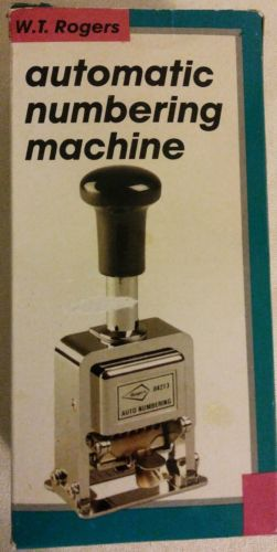 W T Rogers Automatic Numbering Machine with Box