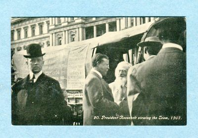 A6805  Postcard  President Roosevelt Viewing The Team,1907, Along Oregon Trail