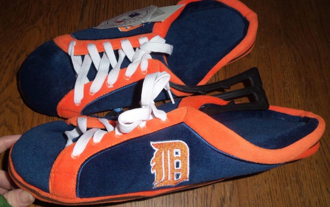 Sz 13-14 Men's MLB Detroit Tiger slippers - Brand New Sneaker Slides Houseshoes