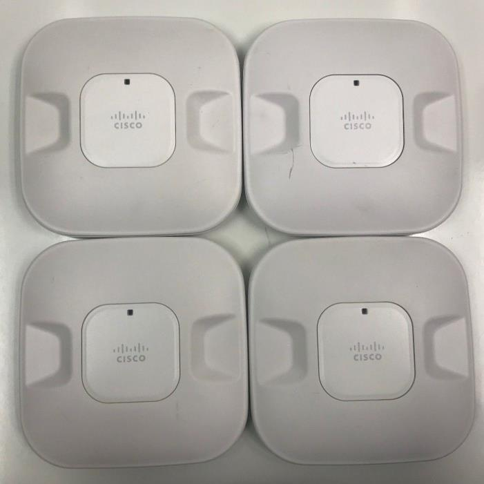 Cisco Aironet Lot of 4 AIR-AP1041N-A-K9 WiFi Wireless Access Points 802.11n