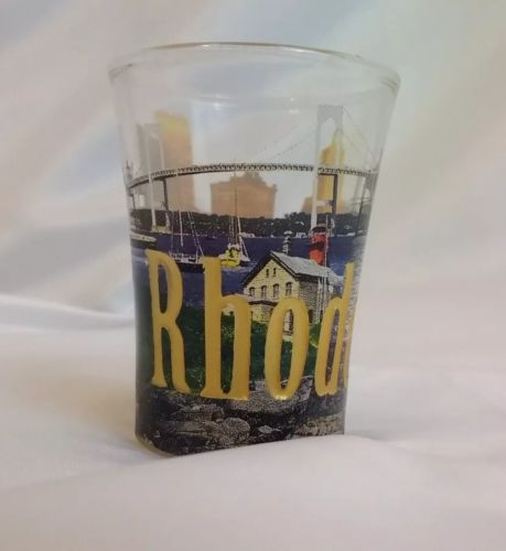 Rhode Island 2 View Shot Glass in Excellent Condition