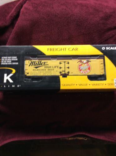 K Line K742-6402 Miller Beer Wood-sided Reefer #93185 Adult Collectible New