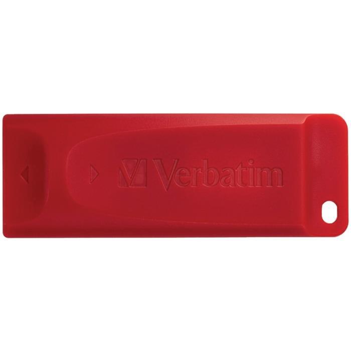 VERBATIM 97005 Store n Go USB Flash Drive, Red (64B)
