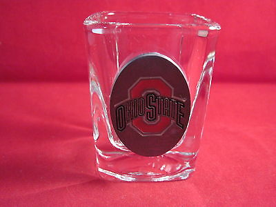 3D Square Shot Glass Ohio State pewter logo