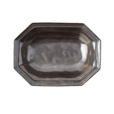 NEW JULISKA PEWTER STONEWARE 12'' OCTAGONAL SERVING BOWL
