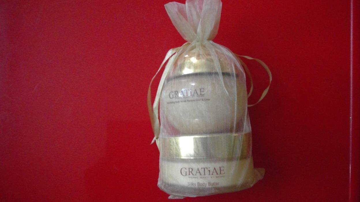 Gratiae Organics Exfoliating Body Scrub, Passion Fruit and Lime, 10oz