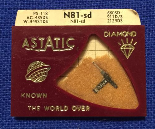 Record Player Needle-GENUINE ASTATIC N81-SD ASTATIC N81 168-DS73