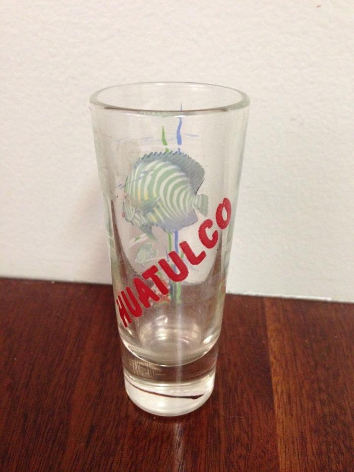 Tall Shot Glass From Hualtuco, Mexico