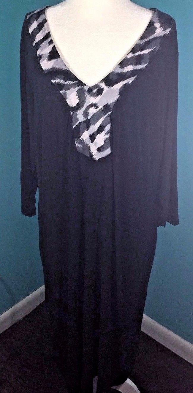 IGIGI by Yuliya Raquel Women's Dress Size 18/20 3/4 Sleeve Black