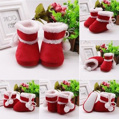 Newborn Baby Girl Soft Snow Boots Novelty Prewalker Anti-slip Crib Shoes Booties