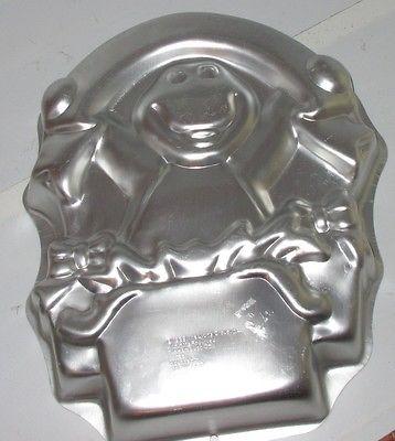 1998 Wilton Barney Birthday Party Cake Pan Dinosaur Baking Mold Tin 2105-3450