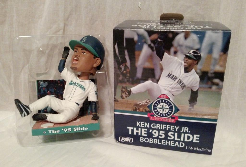 2010 SGA Ken Griffey Jr. The '95 Slide Bobblehead Seattle Mariners NIB Junior