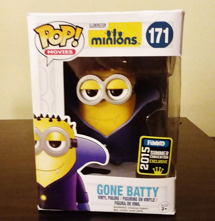 Funko Pop Minion Figure Batty 2015 Exclusive