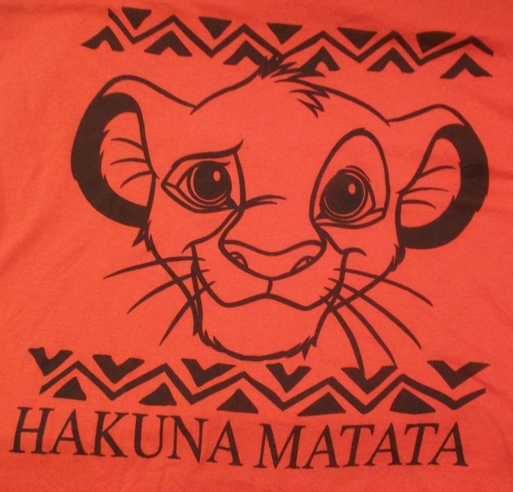 Disney's The Lion King Hakunamatata Shirt Junior Ladies M Medium
