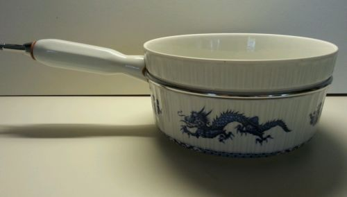 Blue Dragon Cookware France Veritable Porcelaine A Feu Ribbed French Culinary