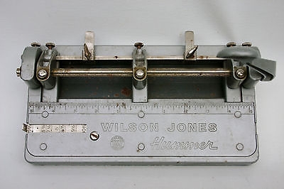 3-Hole Paper Punch Wilson Jones HUMMER | 314  3-Hole | Punches 1/4 in. holes USA