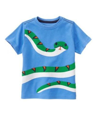 Gymboree Outdoor Explorer 3T Snake Tee Shirt Blue