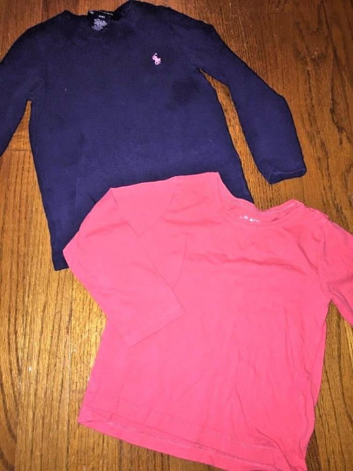 POLO RALPH LAUREN  & THE CHILDRENS PLACE Shirts Tops SET  LOT of 2 Girls Size 4T