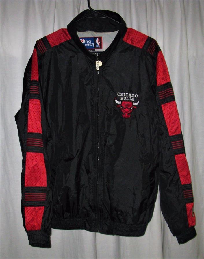 RARE Pro Player Chicago Bulls Full Zip Jacket Men's Medium Vintage 1990's Mesh