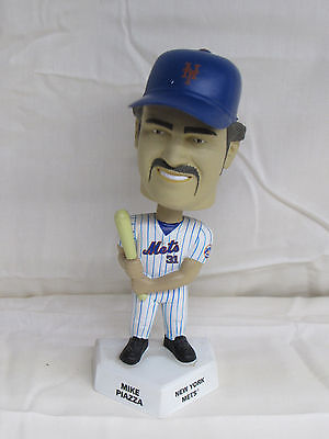 Mke Piazza 2002 Upper Deck Playmakers Bobblehead Figure NY Mets White
