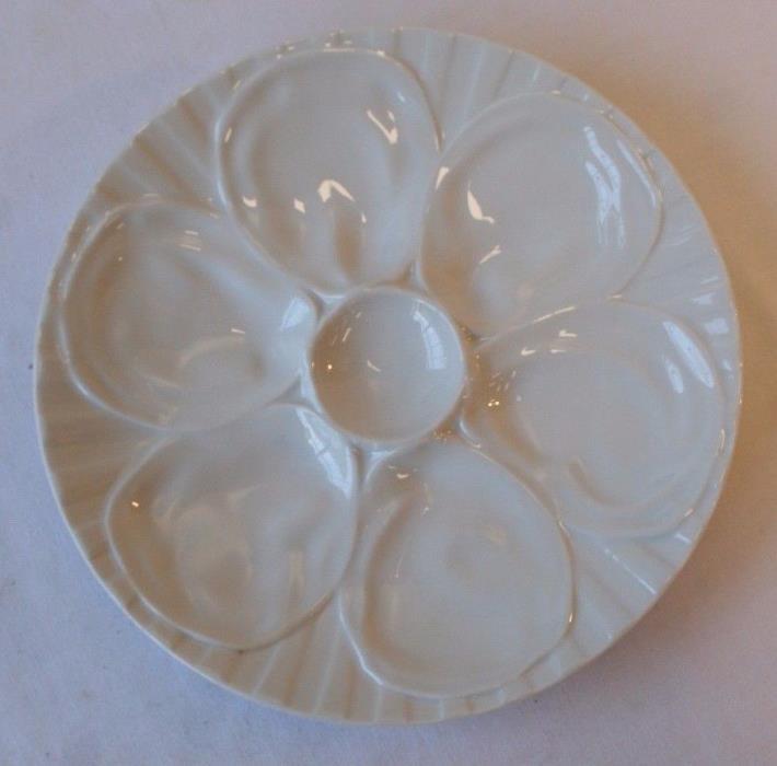 Antique Porcelain Oyster Plate 6 Well PILLIVUYT France Porcelaine Depuis 1818