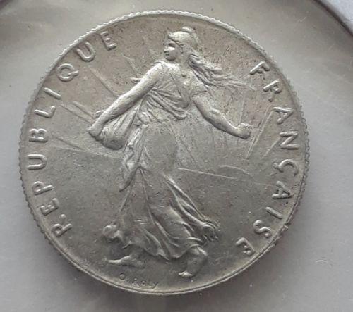 1899 Frances 50 Centimes Silver ms+++