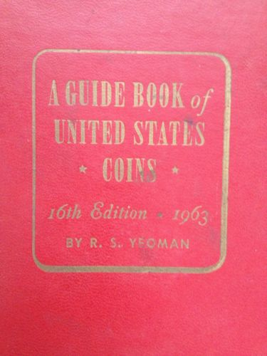 1963 [ERROR EDITION] red book  a guide book of united states coins