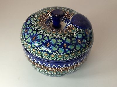Estate Polish Pottery Decorative Apple Baker Unikat