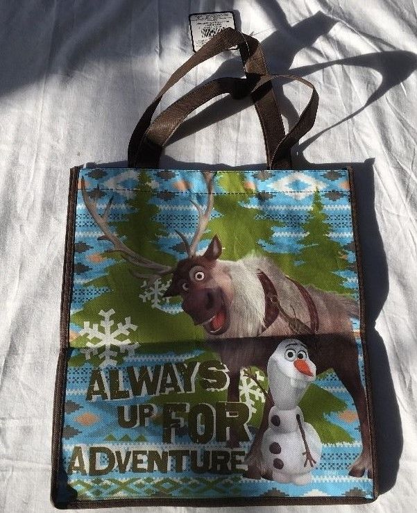 Disney FROZEN Reusable Grocery Tote Gift Bag OLAF & SVEN NEW - Free Shipping