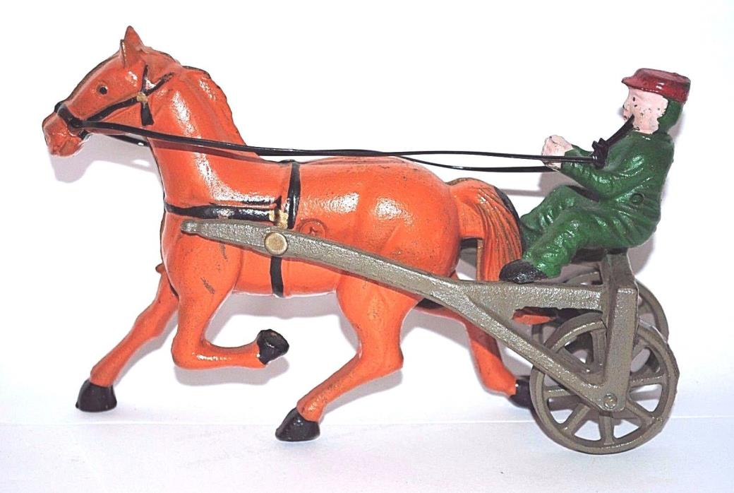 Cast Iron Olde Time Race Horse & Driver