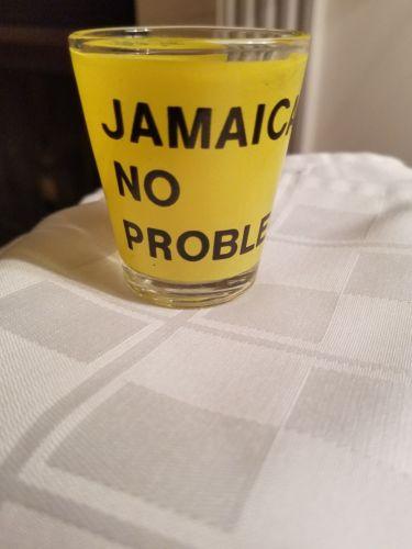 JAMAICA-NO PROBLEM-SOUVENIR  SHOT GLASS / JIGGER 2 1/4