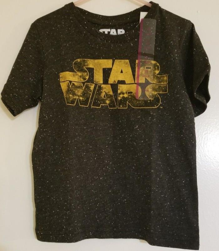 Star Wars Outline Logo Black Speckled Babys T-Shirt New 3T