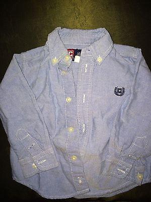 NWOT CHAPS high quality cotton light blue shirt boys 18 M