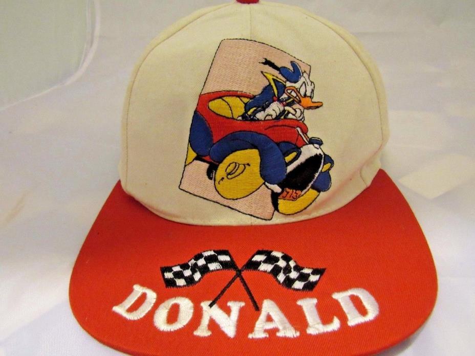 Donald Duck Racing Baseball Hat Hat Disney VTG