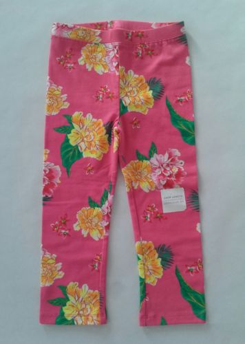NWT Old Navy Girls 5T Leggings Pants PINK Floral Crop Length  Size: 5T