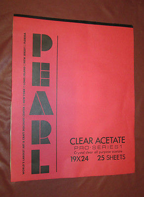 PEARL Art CLEAR ACETATE Pro Series 19