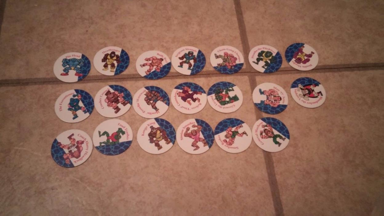 Monster in my pocket wrestlers pogs good condition come as is