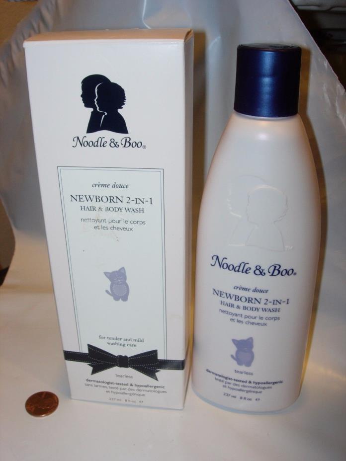 NOODLE & BOO Newborn 2-in-1 Tearless Hair & Body Wash 8 oz hypoallergenic bath