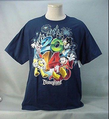 2014 Navy Blue DISNEYLAND RESORT T-Shirt - Adult XLarge XL - NEW NWT